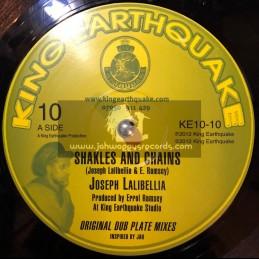 "King Earthquake-10""-Shakles & Chains + Jah Created Dem / Joseph Lalibellia"