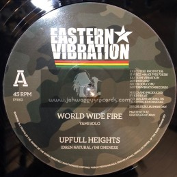 "Eastern Vibration-12""-World Wide Fire / Yami Bolo + Upfull Heights / Idren Natural + Violin Dub / Kartik Raghuntathan"