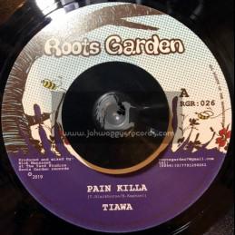 "Roots Garden Records-7""-Pain Killa / Tiawah + Too Dangerous Dub / Manasseh"