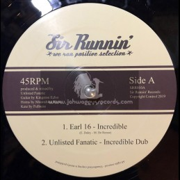 """Sir Runnin Records-12""""-Incredible / Earl 16 + Righteous Way / Chazbo & Moonshine Horns"""