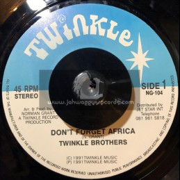"TWINKLE BROTHERS 7""-DONT FORGET AFRICA / TWINKLE BROTHERS"