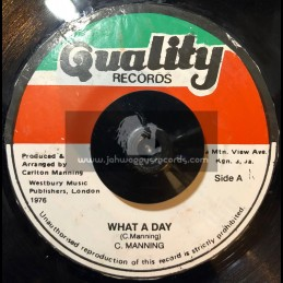 """Quality Records-7""""-What A Day / C. Manning"""