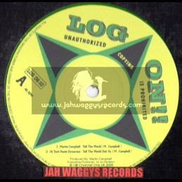 """Log on-10""""-Tell the world + Remove the barrier/Martin cambell (limited coloured vinyl)"""