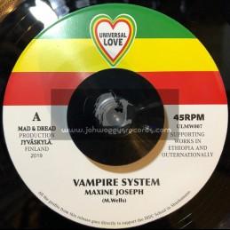 "Universal Love-7""-Vampire System / Maxine Joseph"