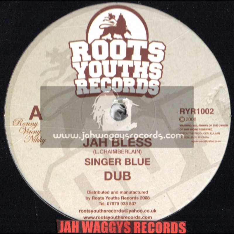 """Roots youths records-12""""-Jah bless / Singer blue + Tribesman / Roots youths all stars"""