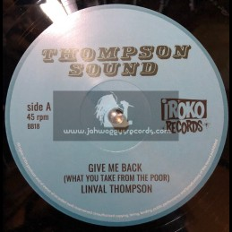 Thompson Sounds-Give Me Back + Lump Sum / Linval Thompson