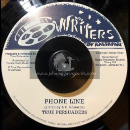 "Writers Of Rastafari-Jamwax-7""-Phone Line / True Persuaders"