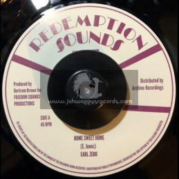 """Redemption Sounds-7""""-Home Sweet Home / Earl Zero + Home Sweet Home Version / Augustus Pablo & Soul Syndicate"""