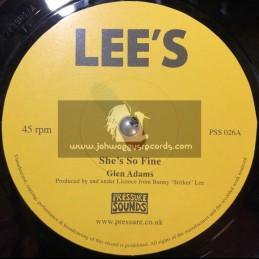 "Lee s - 7""- Shes So Fine / Glen Adams + Soul Survivor / Val Bennett"