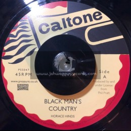 """Caltone-7""""-Black Mans County / Horace Hinds + Time Is Getting Harder / Peter Austin"""