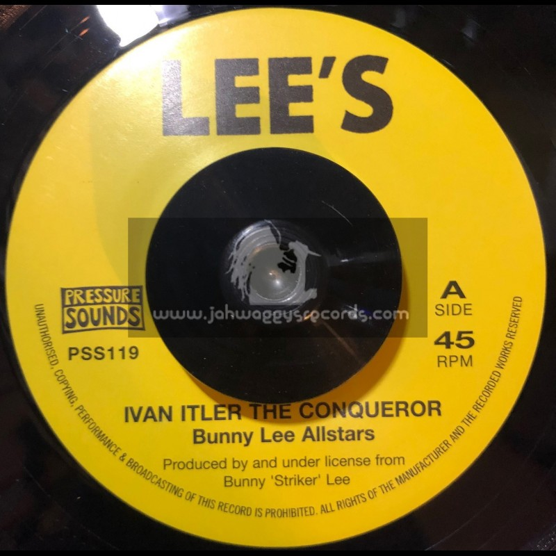 """Lees-Pressure Sounds-7""""-Smooth And Sorts / Dave Barker + Ivan Itler The Conqueror / Bunny Lee Allstars"""