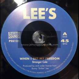"Lees-Pressure Sounds-7""-When I Get My Freedom / Stranger Cole + Death Rides A Horse / Roy Richards"