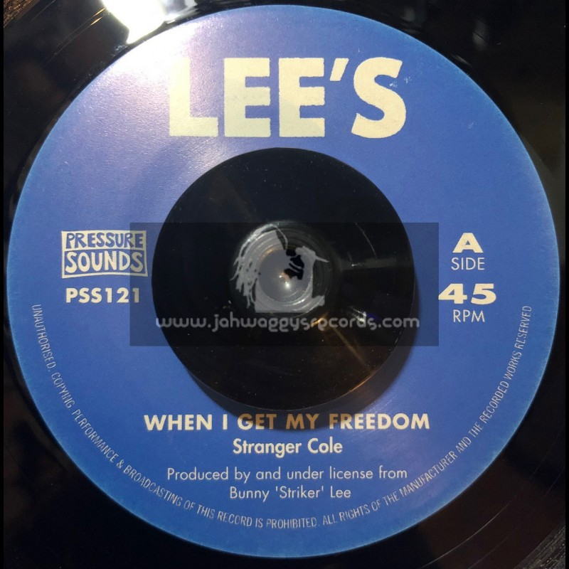 """Lees-Pressure Sounds-7""""-When I Get My Freedom / Stranger Cole + Death Rides A Horse / Roy Richards"""