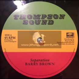 """Thompson Sounds-12""""-Separation / Barry Brown"""