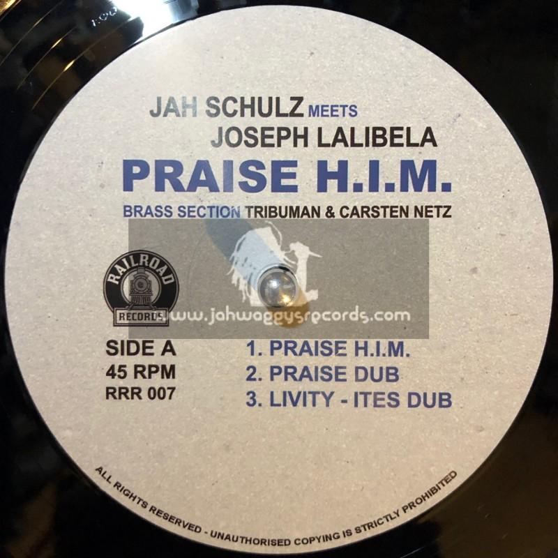 """Railroad Records-12""""-Praise HIM / Joseph Lalibela + Roots / Itection Lion"""