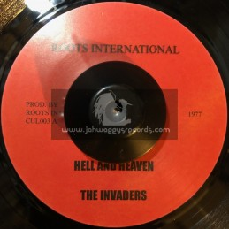"""Roots International-7""""-Hell And Heaven / The Invaders + Trinity Dj Cut"""