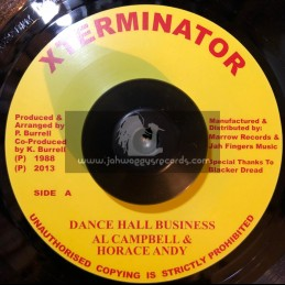 "X Terminator-7""-Dance Hall Business / Al Campbell & Horace Andy"