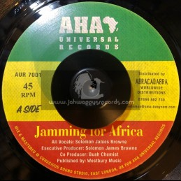 """AHA Universal Records-7""""-Jamming For Africa / Soloman James Brown"""