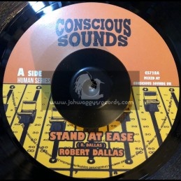 """Conscious Sounds-7""""-Stand At Ease / Robert Dallas + Stand At Dub / Dub Marta Meets Zinx"""