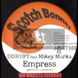 "Scotch bonnet-10""-(Jahtari)Empress / Disrupt feat mikey murka + Second hand man / Disrupt feat mikey murka"