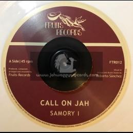 "Fruits Records-7""-Call On Jah / Samori I - White Vinyl"