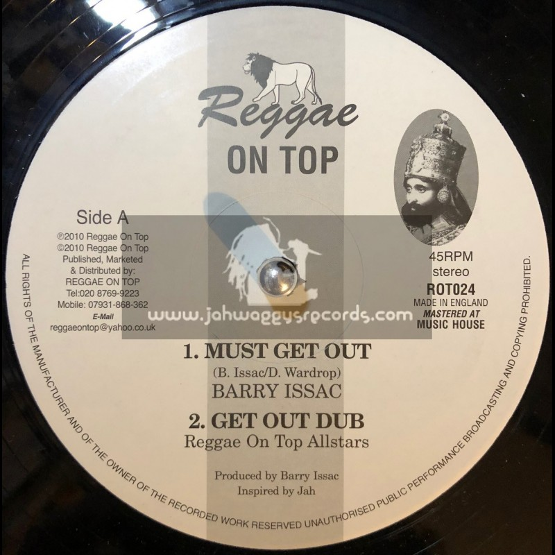 """Reggae On Top-12""""-Must Get Out + Work For Your Living / Barry Issac"""