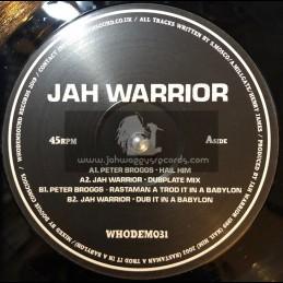 "Whodemsound-12""-Hail HIM / Peter Broggs + Rastaman A Trod It In A Babylon / Peter Broggs - Jah Warrior Dubplate Style"