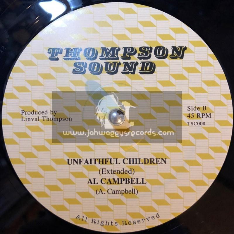 """Thompson Sound-12""""-Guide Us Jah Jah / Freddie McKay + Unfaithful Children / Al Campbell"""