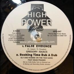 "High Power Music-12""-False Evidence / Gregory Isaacs + Flee Outa Babylon / Yami Bolo"