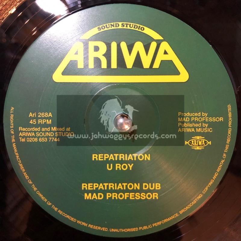 """Ariwa-12""""-Repatriation / U Roy + Teacher / U Roy"""
