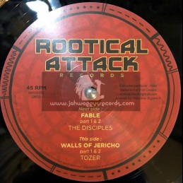 "Rootical Attack Records-10""-Fable / Disciples + Walls Of Jericho / Tozer"
