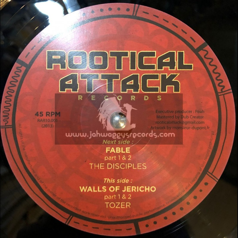 """Rootical Attack Records-10""""-Fable / Disciples + Walls Of Jericho / Tozer"""