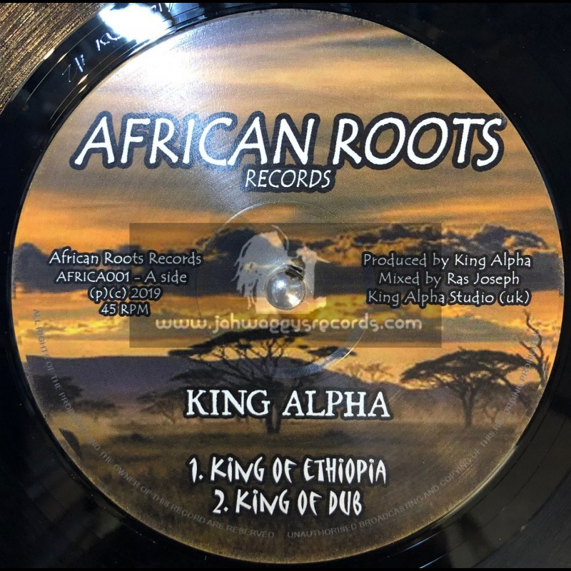"""African Roots Records-12""""-King Of Ethiopia / King Alpha"""