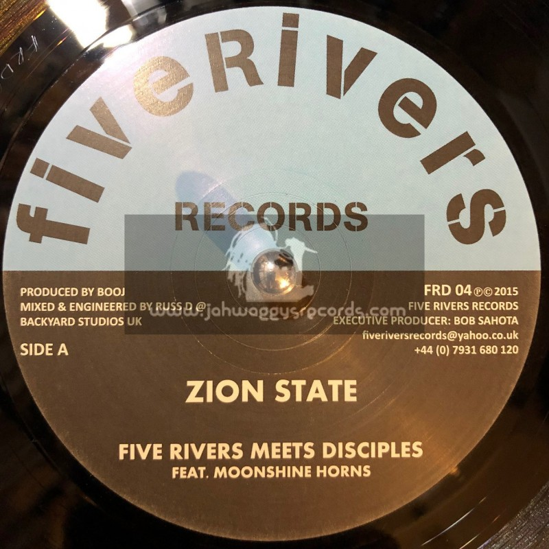 """Five Rivers Records-7""""-Zion State / Five Rivers Meets Disciples Feat. Moonshine Horns"""