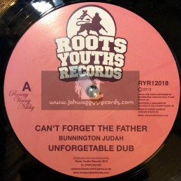 "Roots Youths Records-12""-Cant Forget The Father / Bunnington Judah  + The Rebels / Ital Mick"