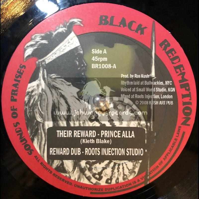"""Black Redemption-10""""-Their Reward / Prince Alla + Walls / Fred Locks"""