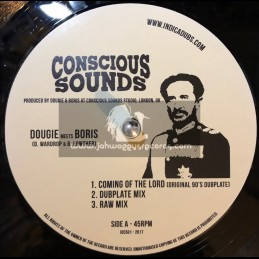 """Indica Dubs-Conscious Sounds-12""""-Coming Of The Lord / Dougie Meets Boris + The Vision / Indica Dubs Meets Conscious Sounds"""