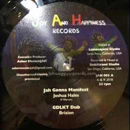 "Joy And Happiness Records-12""-Jah Gonna Manifest / Joshua Hales + Eat Up The Ital / Ras Takura - Brizion Riddim Section"