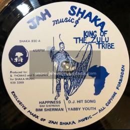 "Jah Shaka Music-12""-Happiness / Bim Sherman"