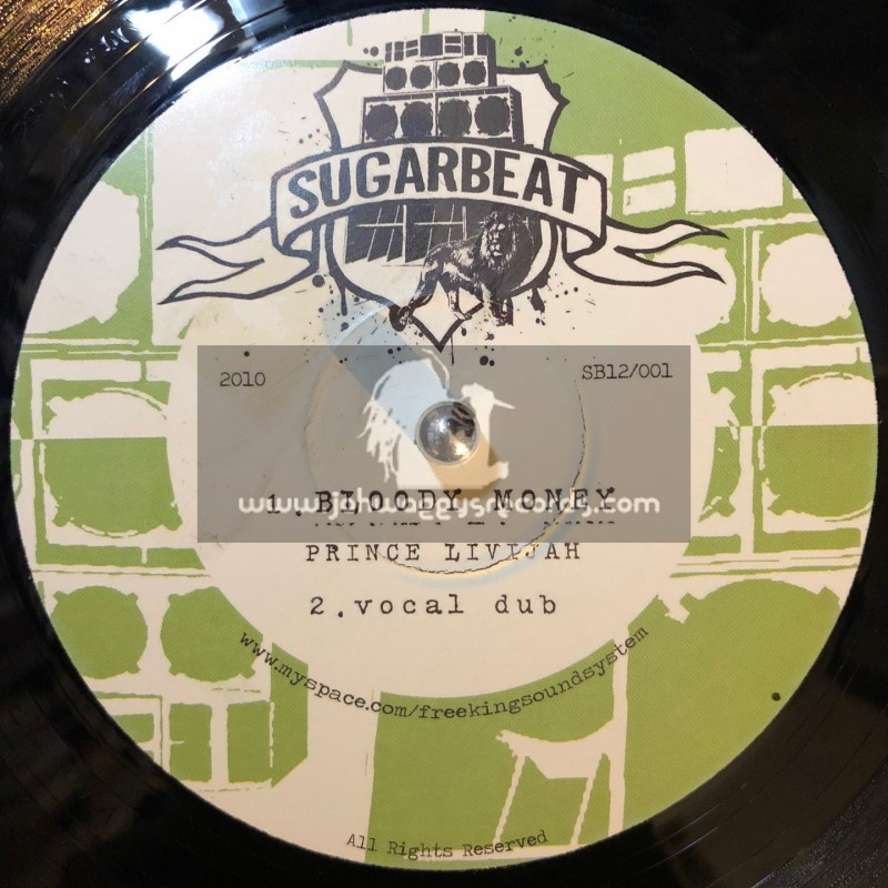 "SUGERBEAT-12""-BLOODY MONEY / PRINCE LIVIJAH + LOVE NA DEYA / LIONESS FONTS"