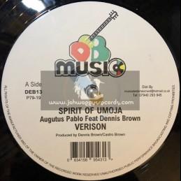 """DEB Music-12""""-Spirit Of Umoja / Augustus Pablo Ft. Dennis Brown + Idi Amin / Nambo & Dean"""