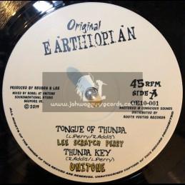 "Original Earthiopian-10""-Tongue Of Thunda / Lee Scratch Perry + So Long / Ras Teo"