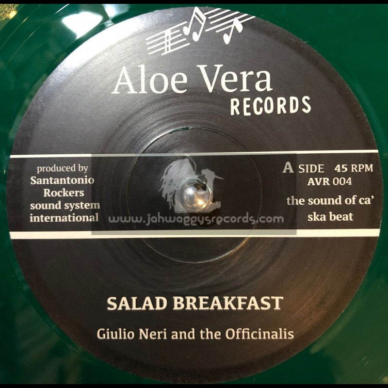 """Aloe Vera Records-7""""-Salad Breakfast / Giulio Neri And The Officinalis + Sunset Capri / Andrea And The Officinalis"""