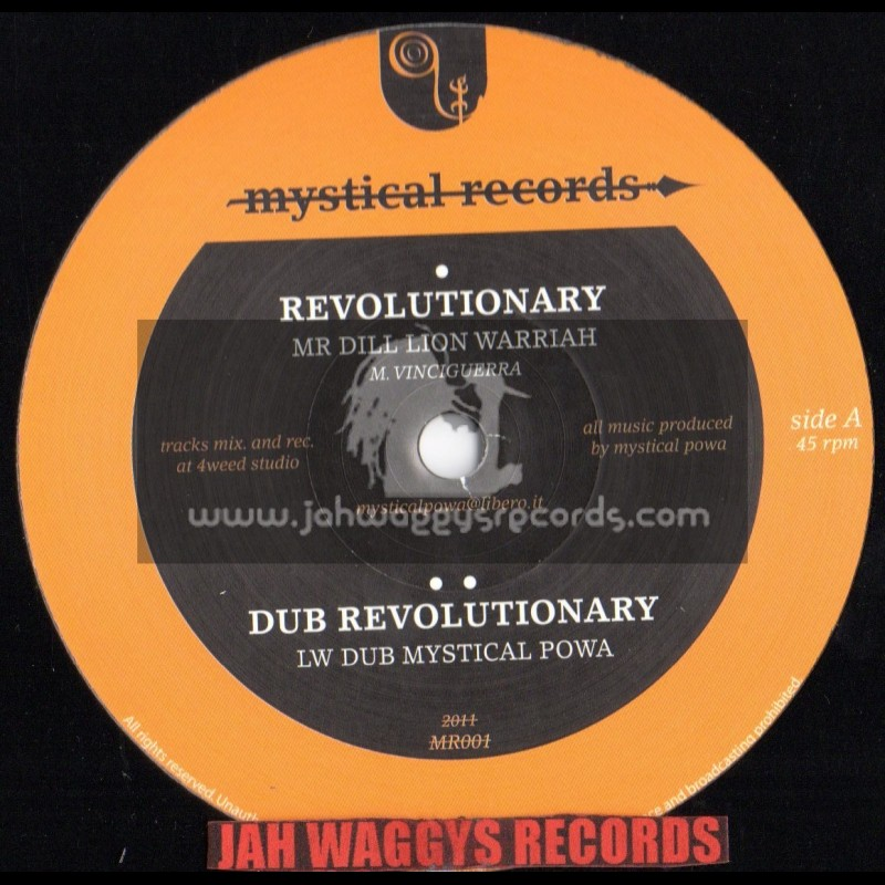 """Mystical records-12""""-Revolutionary/Lion warrior + Luv luv luv/Anayah roots"""