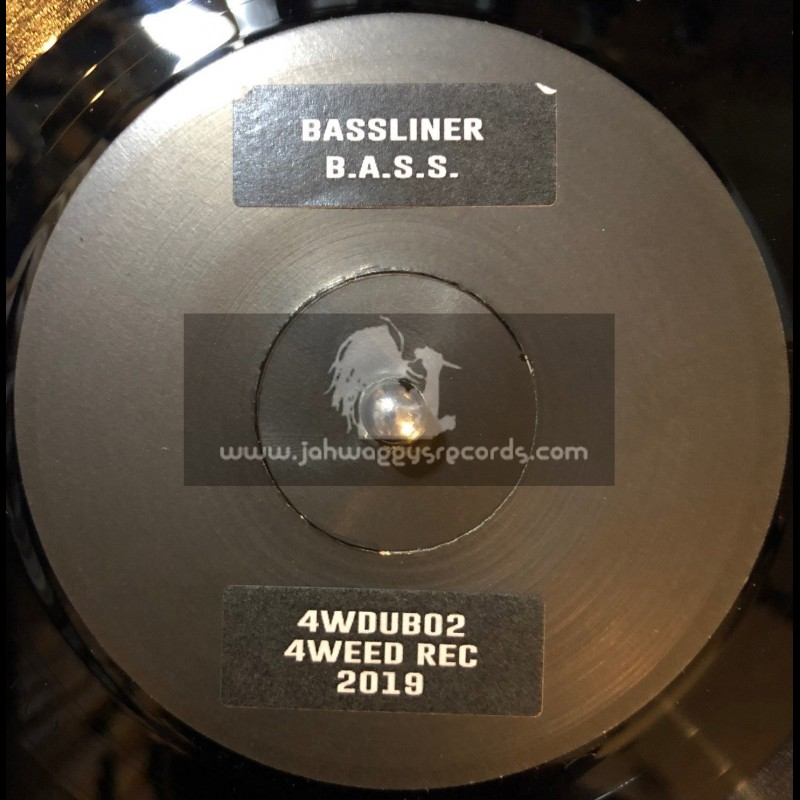 """4Weed Records-7""""- B.A.S.S. / Bassliner + Spring Raag feat. Kamod Raj / Bassliner  - Limited Numbered Copys"""