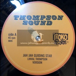 "Thompson Sound-Iroko Records-12""-Jah Jah Guiding Star / Linval Thompson + Cool Down Your Temper / Linval Thomson"