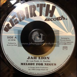 "Rebirth Records-7""-Melody For Negus / Jah Lion (1983 Congo Music)"
