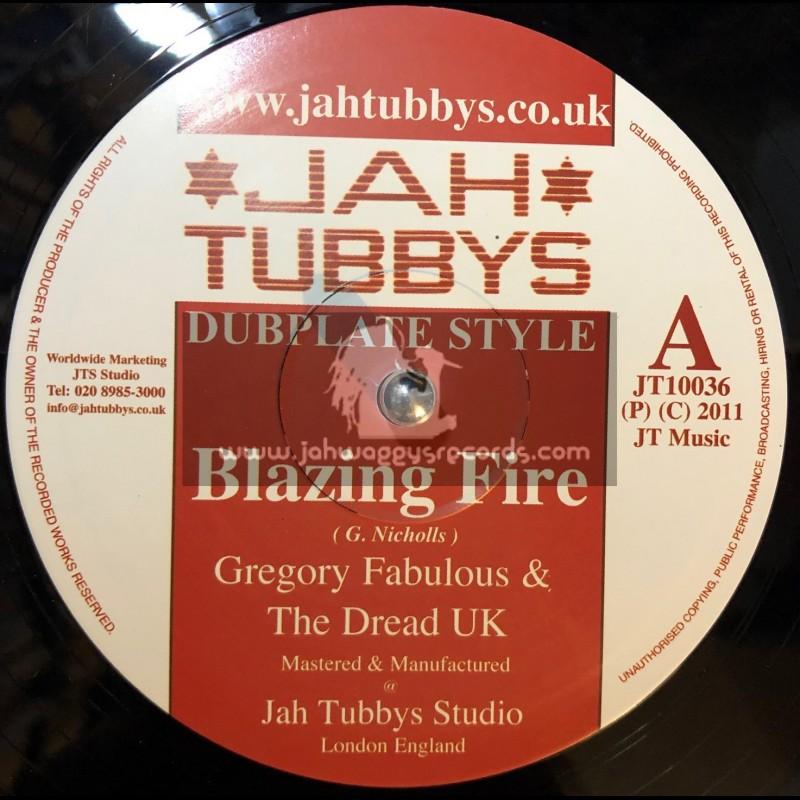 "Jah Tubbys-10""-Blazing Fire + Space Rockers / Gregory Fabulous"