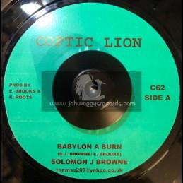 "Coptic Lion-7""-Babylon A Burn / Soloman J Brown"
