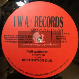 "I W A-Records-Test Press-10""-Restitution / I Warrior + Clash Of The Titans / I Warrior (King Alpha)"
